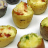 Mini stuffed potato skins