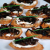 Carmelized onion and goat cheese crostini